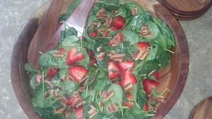 Super Simple Spinach Strawberry Salad