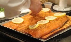 Planked Wild Salmon Preps
