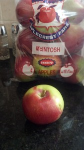 Extra Fancy McIntosh Apples from Market Basket