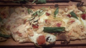 Seasons 52 Fresh Grill Lobster Mozzarella Flatbread